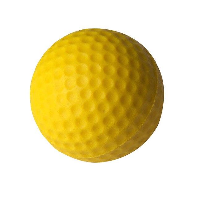 10PCS Golf Practice Balls Golf Indoor Outdoor Beginners Training Balls Soft Training Ball PU Yellow Golf Ball