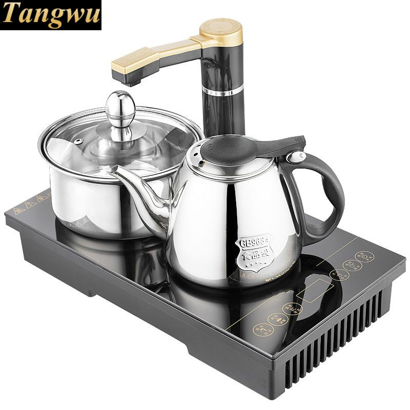 Electromagnetic tea furnace automatic upper water electric kettle three set induction  brewing Safety Auto-Off Function electric 4 heads and 6 heads induction cooker embedded electromagnetic oven household commercial electromagnetic furnace cooking
