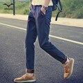 2016 мужская Осень и Зима Классический Cargo Pants Теплый Толстый тонкий Прямые Брюки Хлопок Молодые Брюки Мужчины брюки большой ярдов прилив