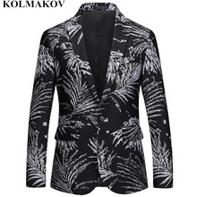NEW Brand Printed Blazers mens Autumn Suits Jackets slim Homme men's Blazer Masculino Top Quality Dress Big size M-4XL,5XL, 6XL