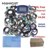 Full Adapter V4.94 Digiprog3 Odometer Correction Digiprog 3 OBD2 OBD Mileage Programmer Digiprog III DHL Free Shipping
