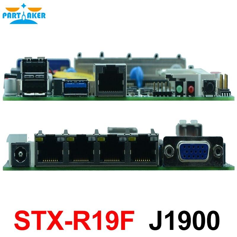 Carte mère J1900 de pare-feu de plate-forme de SOC de traînée de baie d'intel avec le support de 1 * SO DDRIII 1600/1333 MHz DDR3L/1.35 V