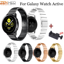 20mm Luxury Watch Band For Samsung Galaxy Watch Active Stainless Steel Strap Wrist For Samsung Galaxy Watch 42mm Gear S2 Bands стоимость