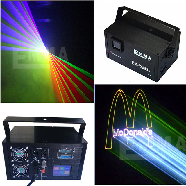 RGB outdoor laser landmark,3w full color holographic sky text laser light projector