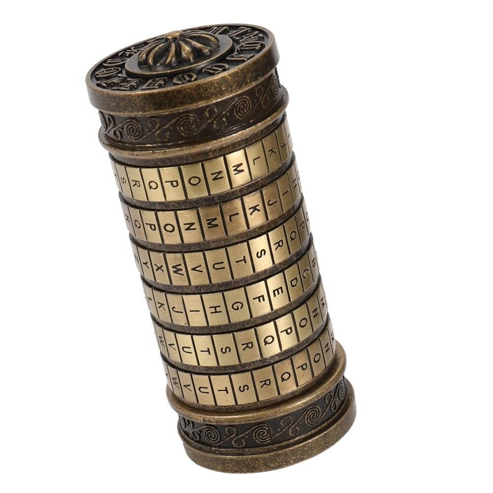 Anniversaire Valentine boîte cadeau cylindre Lockbox Da Vinci Code Alphabet serrures stockage serrure boîte lettre mot de passe serrure à combinaison