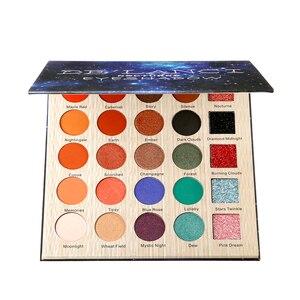 DE'LANCI Nocturne тени для век профессиональные 25 цветов палитра для макияжа матовые мерцающие блестящие пигментированные тени для век порошок