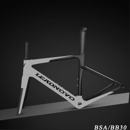 Can Customized Newly Carbon Road Frame Carbon Fibre Racing Bicycle Black Frame Glossy Matte BSA BB30 For DI2 Mechanical Frame