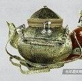 Exclusivo chino antiguo exquisito tetera de talla de bolso de la novedad creativo de halloween christimas bolsa de aladino de la lámpara