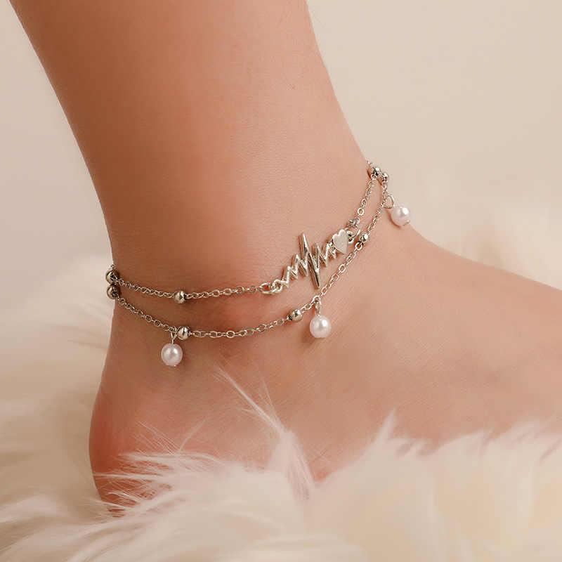 Перо оставьте лодыжки Женский браслет босоножки, браслеты на ногу для Для женщин пляжные бижутерия для ног ножная цепочка аксессуары