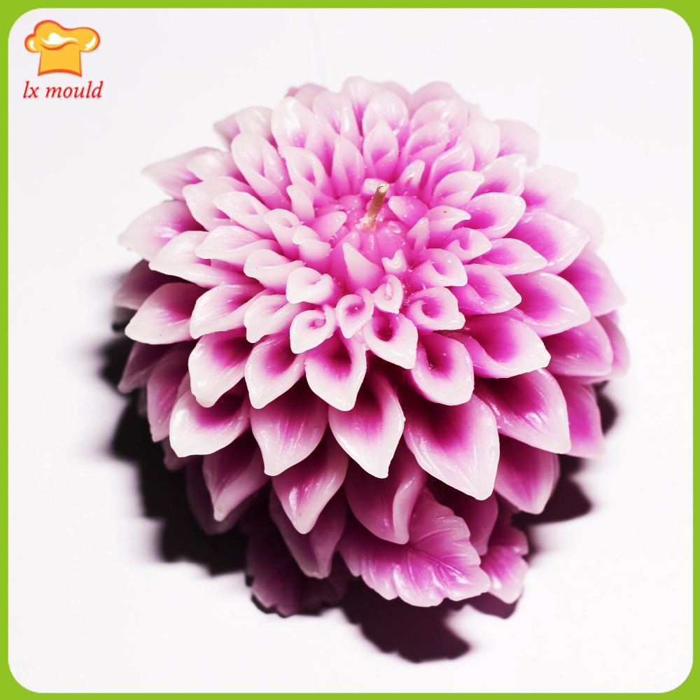 3D Dali chrysanthème sculpté savon moule Dahlia décoratif moule silicone moule une bougie sculptée expédition