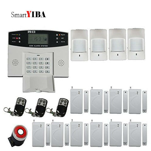 SmartYIBA Wireless LCD Display GSM SMS Anti-Theft Alarm System Kit Auto Dial Remote Control For HOME SECURITY SYSTEMS Safe Guard