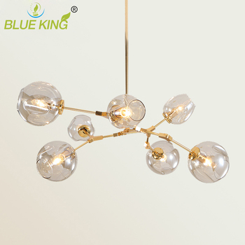 Post Modern Molecular Magic Bean Branch Pendant Lights Italian LED Hanging Lamp for Dining Room Kitchen glass Lustre Lighting