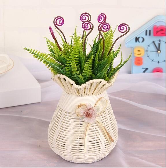 Dekoration Knstliche Seidenblumen Geflschte Pflanzen Simulation Gras Tisch Wohnzimmer MA2246China Mainland