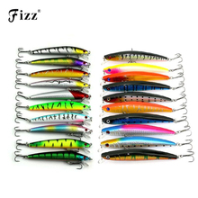 20 Pcs/pack Mixed 2 Style Fishing Lures Set Minnow Fishing Wobblers Artificial Lure Baits wtih VMC Treble Hooks Fishing Tackle south bend fishing lures baitholder hooks 10 pack size 2
