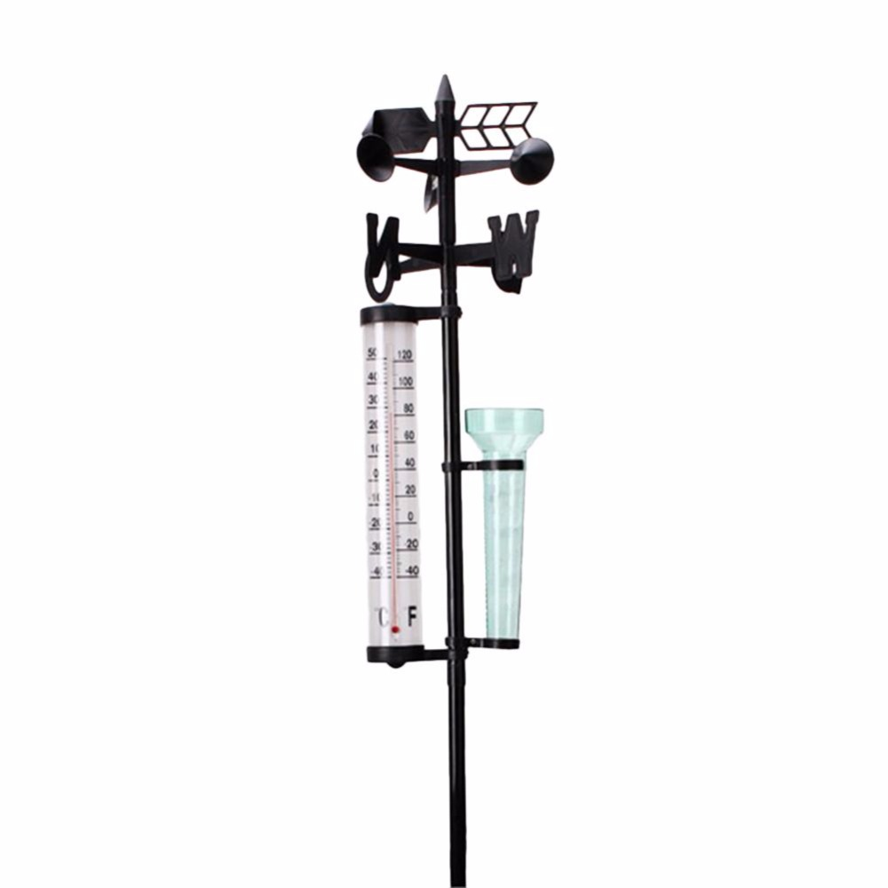 Rain Gauge Thermometers Wind Indicator Weather Station Meteorological Measurer Home