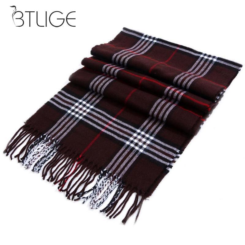 180cm Winter Women Long   Scarf   Winter Warm Women Shawl Cashmere   Scarves   Plaid Blanket Women   Scarves     Wraps   Drop Shipping