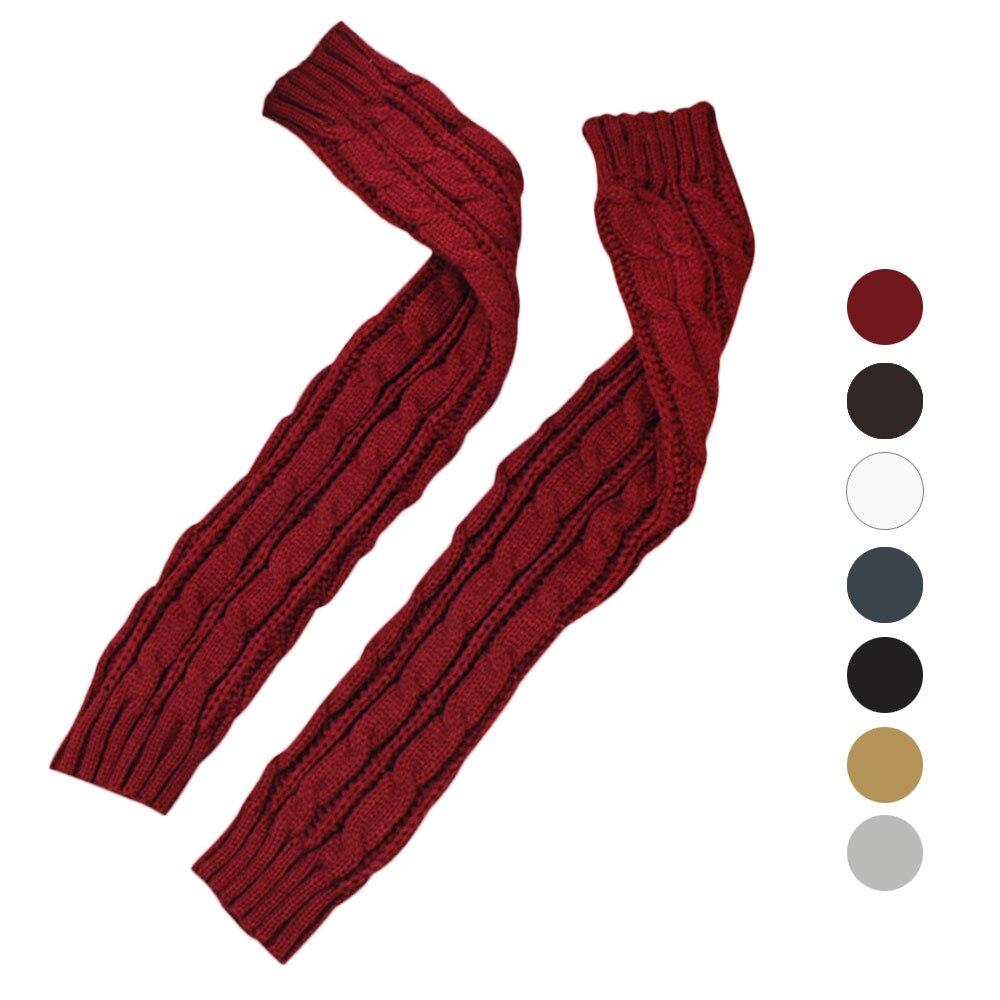2018  Hemp Flowers Fingerless Gloves Fashion Designer 6 Colors Long Gloves Women Winter Knitted Gloves