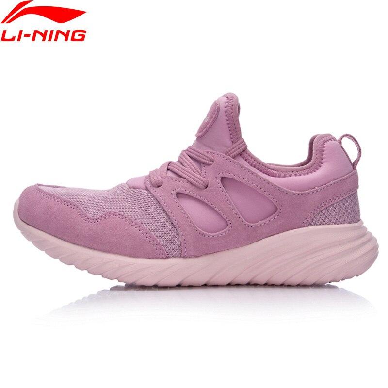(Liquidation) Li-Ning Gloire Femmes Marchant Chaussures Doublure Confort Sneakers Lumière Sport Chaussures AGCM132 YXB082