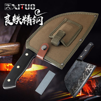 XITUO Kitchen Knife Chef Knives Handmade Forged Full Tang High carbon Clad Steel Professional butcher knife Cleaver Meat Santoku