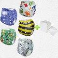 Comprar al por mayor 5 unids mucho impresión pul del pañal del bebé suave del bebé recién nacido pañal de tela de moda (5 juegos)