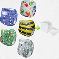 buy wholesale 5 pcs a lot print baby nappy pul soft newborn baby diaper cloth fashionable(5sets)