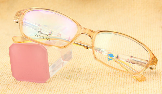 096ae1d1f96 Free Shipping TR 90 Memory Flexible Girl Glass Frame in Demo Lens Fashion  Child Glasses Yellow