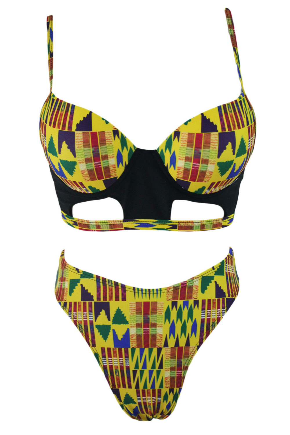 Yellowish-African-Print-Cut-out-High-Waist-Swimsuit-LC410104-7-2