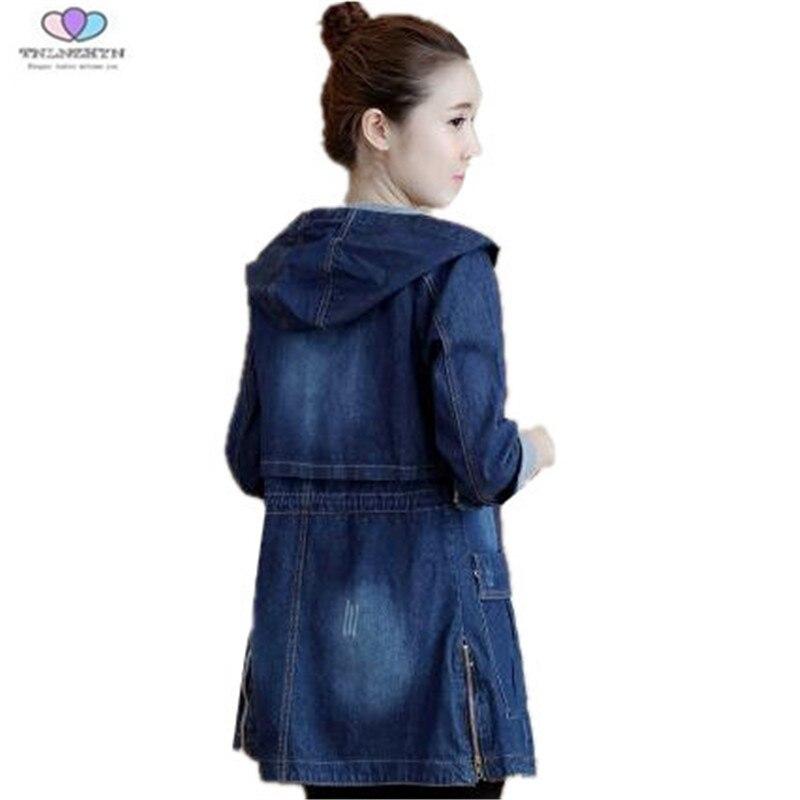 Women denim   jacket   New Spring Autumn   Basic     Jacket   Coat Women Casual Slim Hooded Jeans Coat Loose Plus Sizes Denim   Jacket   A222