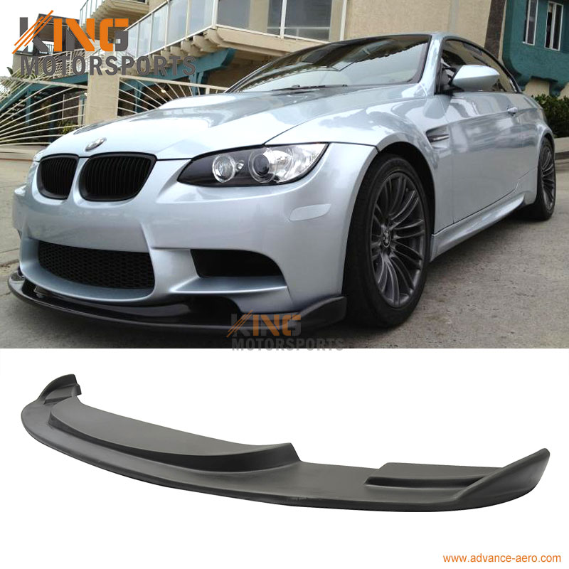For 2008 2009 2010 2011 2012 2013 2014 BMW E90 E92 E93 M3 H Style Front Bumper Lip Chin Spoiler Pre-Primered