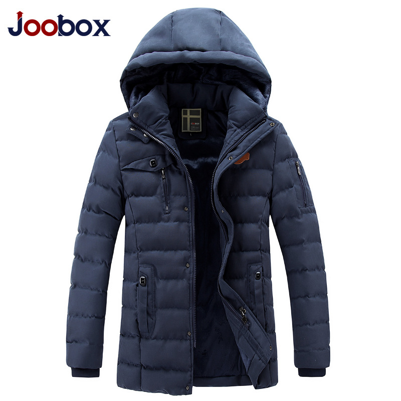 JOOBOX Brand Men Parka 2017 Fashion Winter Jacket Men Hooded Thick Padded Jacket Outwear coat Plus Size 3XL camperas hombre winter jacket men 2016 brand parka plus size men s hooded parka zipper quilted coat casual jackets