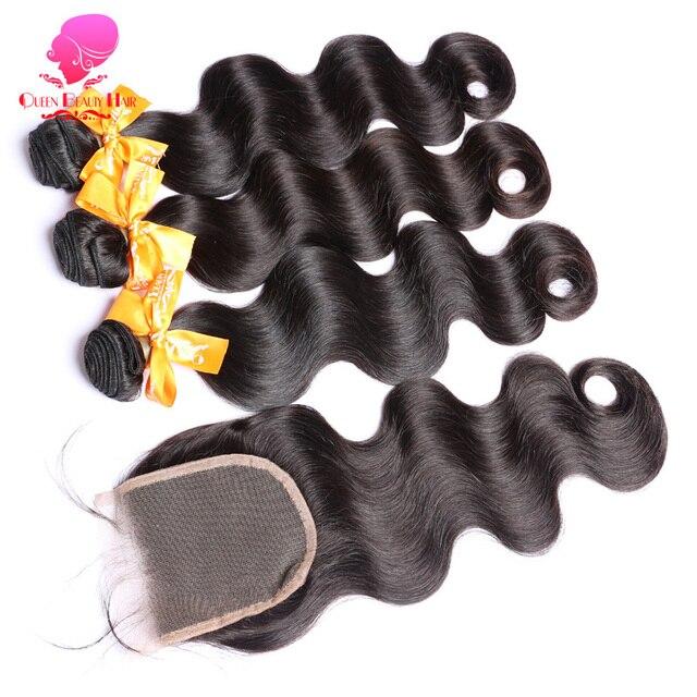 Queen Beauty Natural Color Remy Human Hair Weave Bundle Deals Body