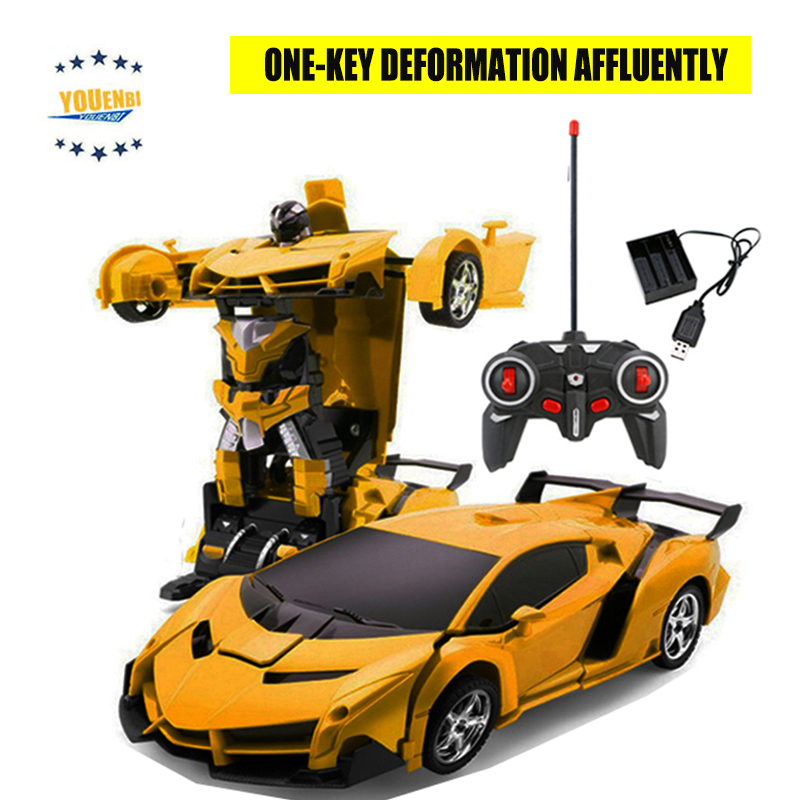 Image 2 - Transformer Car Robots Deformation Robot Remote Control Car with One Button Automatic Operation Realistic Engine Sounds-in RC Cars from Toys & Hobbies