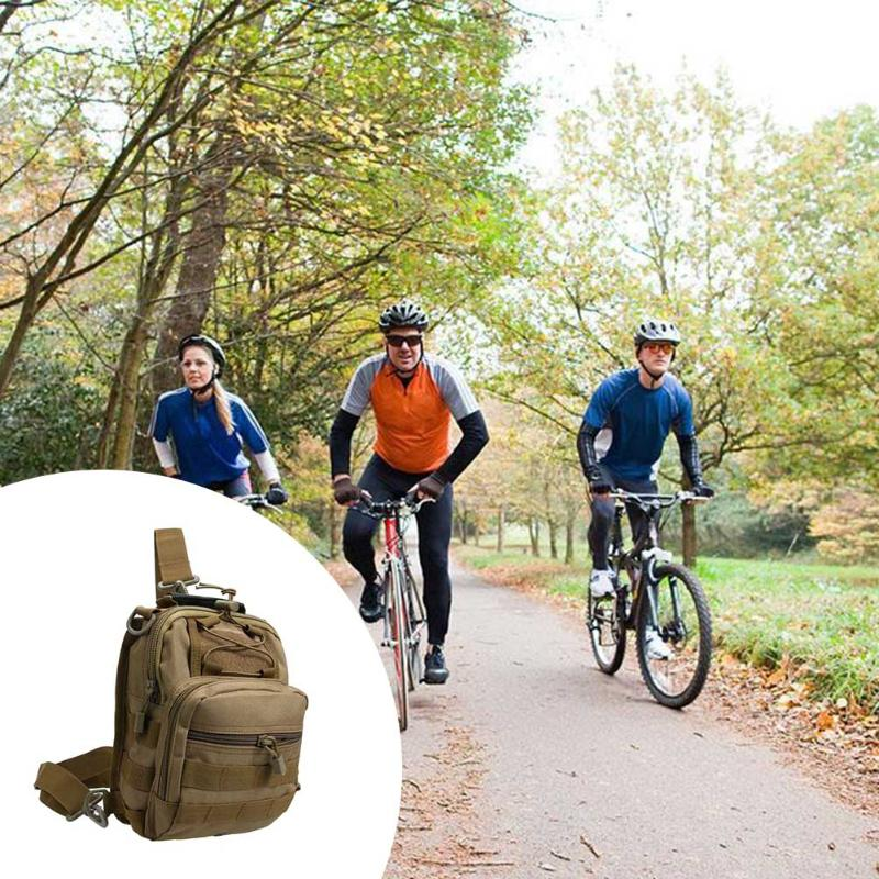 Unisex Chest Bag Nylon Military Traveling Cycling Cross Body Shoulder Backpack Camping Chest Bag Anti Scratch Waterproof Bag Camping & Hiking