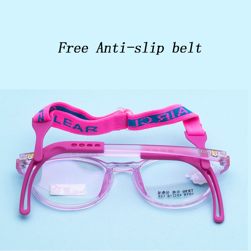 Kids Optical Glasses Frames TR90 Boy Girl Myopia Prescription Eyewear Child Spectacle Frame Student Square Eyeglasses 1019-38