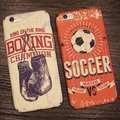 Luxury Brand Sports phone case For iPhone 7 / iPhone 7 Plus / 6s / 6 Plus Shockproof hard Cover Baseball Soccer Stylish Disign