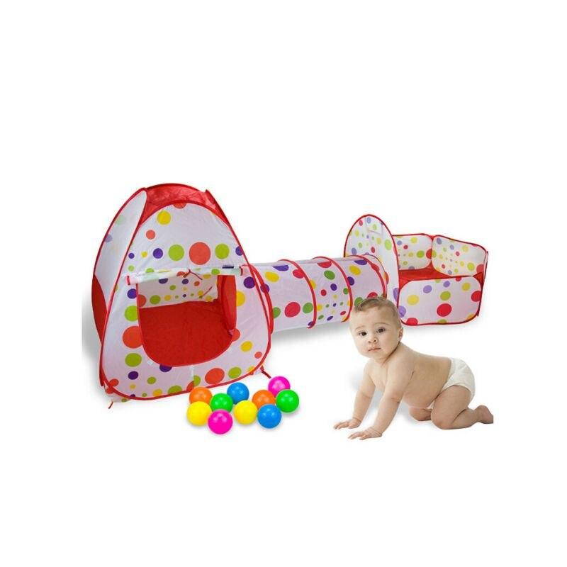Expédition des états-unis et CN 3 pièces ensemble maison de jeu nouveau-né bébé Zone de parc d'attractions équipement de jeu drôle facile à plier pour la conception de transport