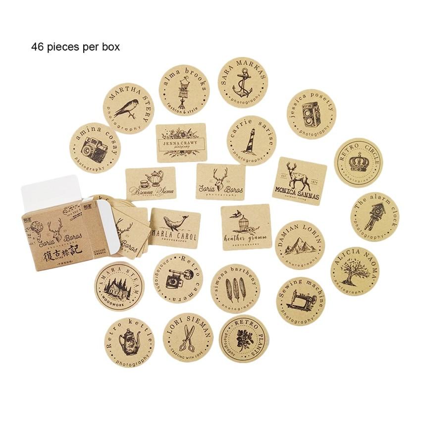 Купить с кэшбэком 46pcs/box Kawaii Asakusa garden robin Sticker Decoration Stickers DIY Planner Scarpbooking Label Sticker Children Stationery