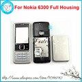 Для Nokia 6300 Новый Полный Полный Мобильный Телефон Крышка Корпуса Чехол + Английский или Русский Клавиатура + Бесплатные Инструменты, бесплатная Доставка