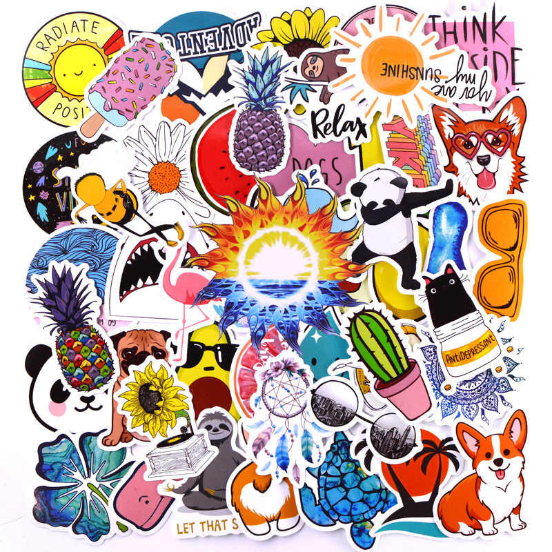 50pcs/pack Super Cute Girl Pink Stickers Kids Toy Sticker