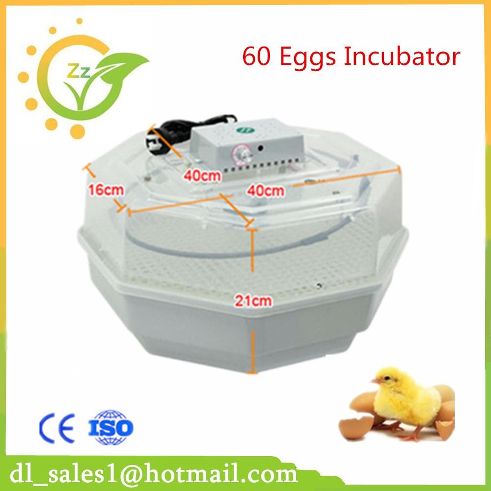 New Commercial Egg Incubator For Sale Chicken Poultry Quail Incubator Egg Tester Eggs Thermostat 60 eggs incubator new design jn5 60 mini egg incubator poultry hatcher egg chicken quail duck incubator