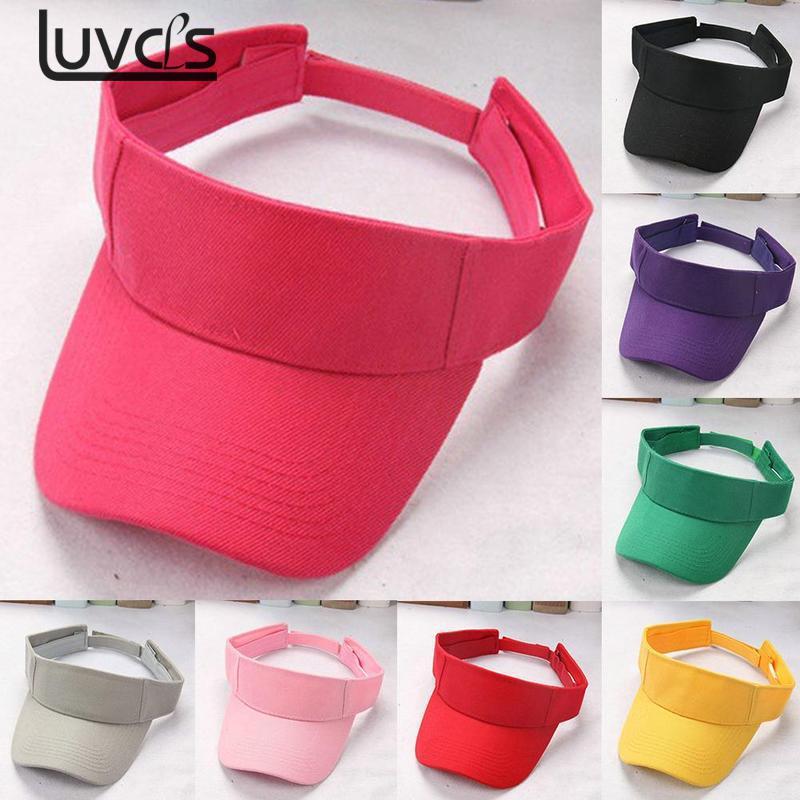 Light Weight Plain Men Women Summer Outdoor Sport Sun Visor Cap Hat For Golf Hiking Tennis Royal Blue Khaki Pink Red Green Black