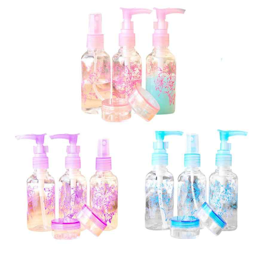 Mini 5pcs/set Colorful Travel Camping Perfume Lotion Cream Empty Bottle Sample Holder AU21