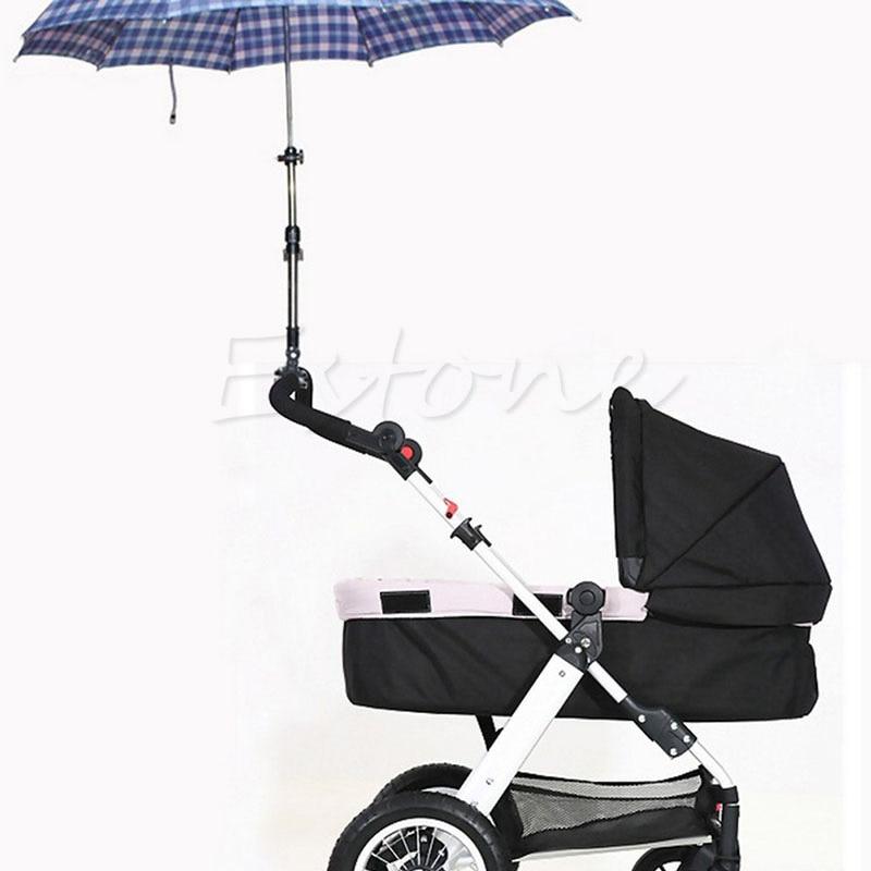 Adjustable Useful Baby Buggy Pram Stroller Umbrella Holder Mount Stand Handle