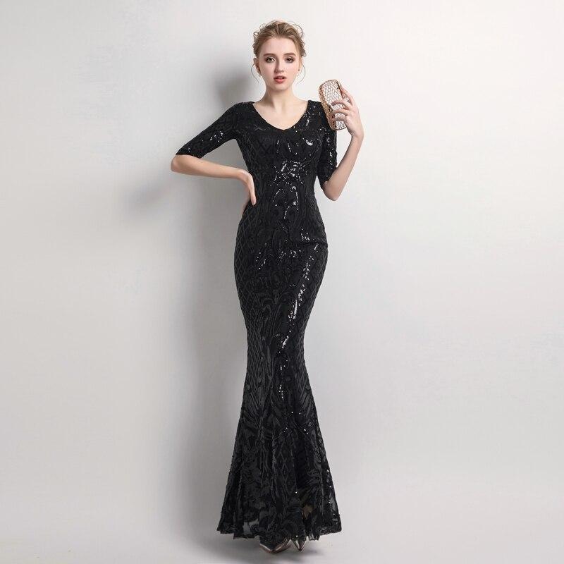 Dropwow YIDINGZS Women s Elegant Mermaid Gold Sequins Dress Half ... 80824d5529ea