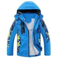 2017 New Children Windbreaker Autumu Kids Boy Camouflage Jacket Double Deck Waterproof Coat Outerwear Boys Jackets