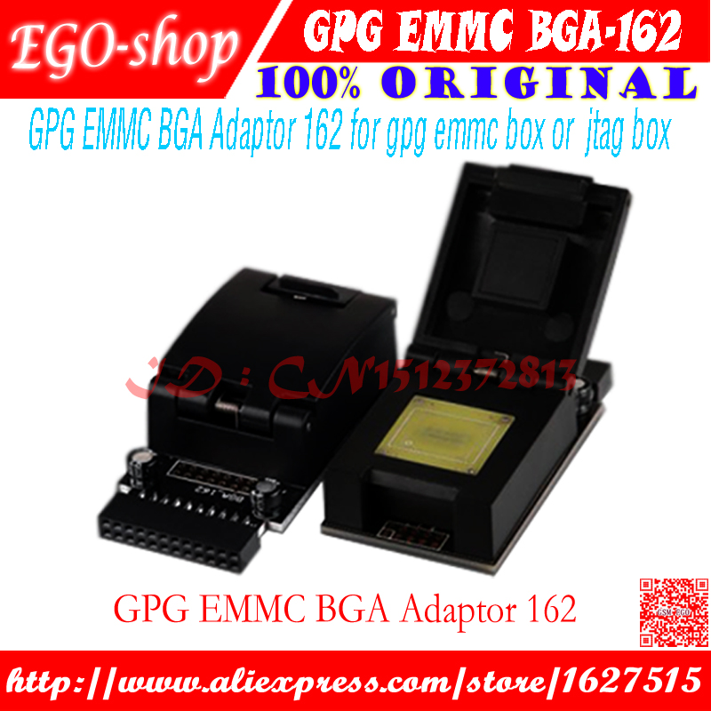 Gsmjustoncct d'origine MEM BGA Adaptateur 162 de GPG pour jtag pro boîte et gpg mem boîte ou boîte jtag + Livraison gratuite