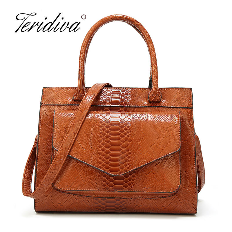 2018 Women Leather Crocodile Handbags Luxury Brand Bags Female Totes Bags Fashion Luxury Pu Leather Handbag Shoulder Bag Green fashion women s handbags brand crocodile pu leather zipper lady one shoulder bag casual messenger totes bags case female purses