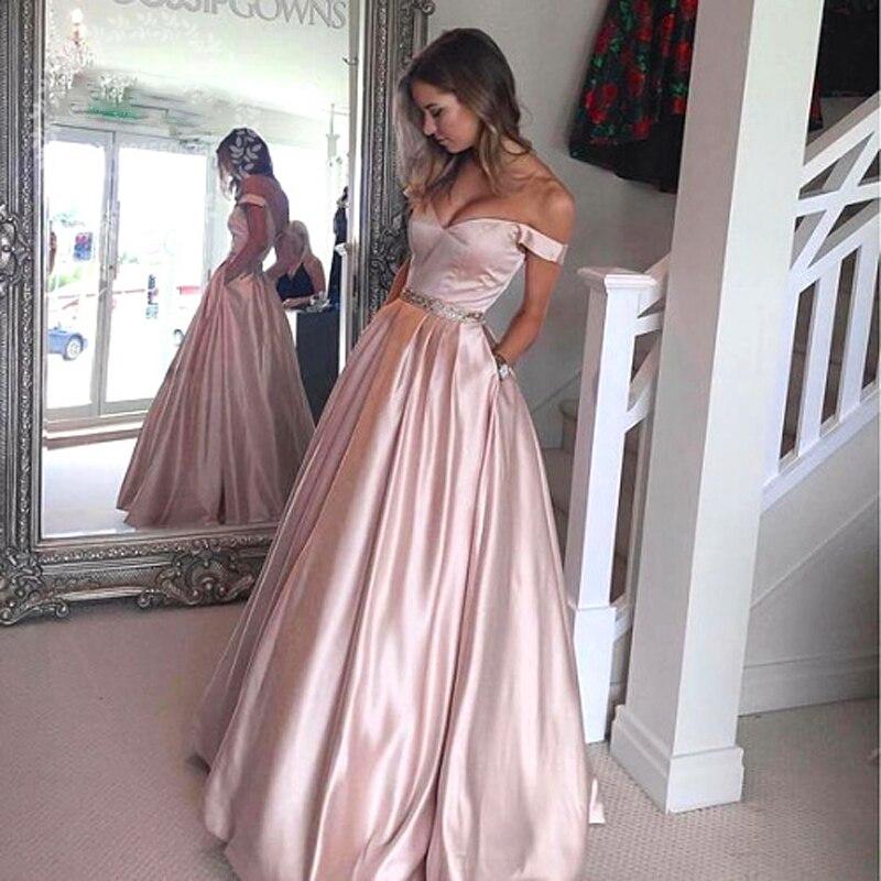 Robes Or De Femmes Soirée D'été Formelle Avec Rose Poche La Élégante Pour Dress2019 Hors Perle Longue Robe rqrtw