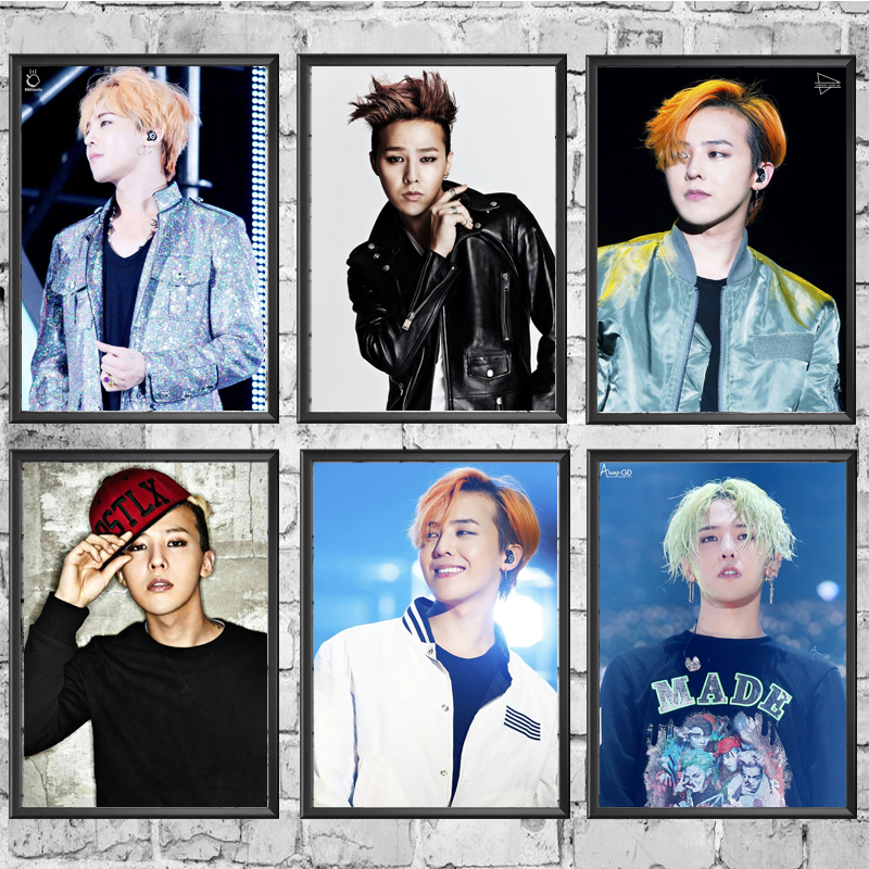 Posters White-Paper Wall-Decor/stickers G-DRAGON Painting-Coated For Home-Bar Good-Quality