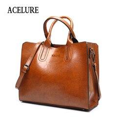 ACELURE кожаные сумочки большой Для женщин сумка Высокое качество Повседневная Женская обувь сумки багажник тотализатор испанского бренда су...